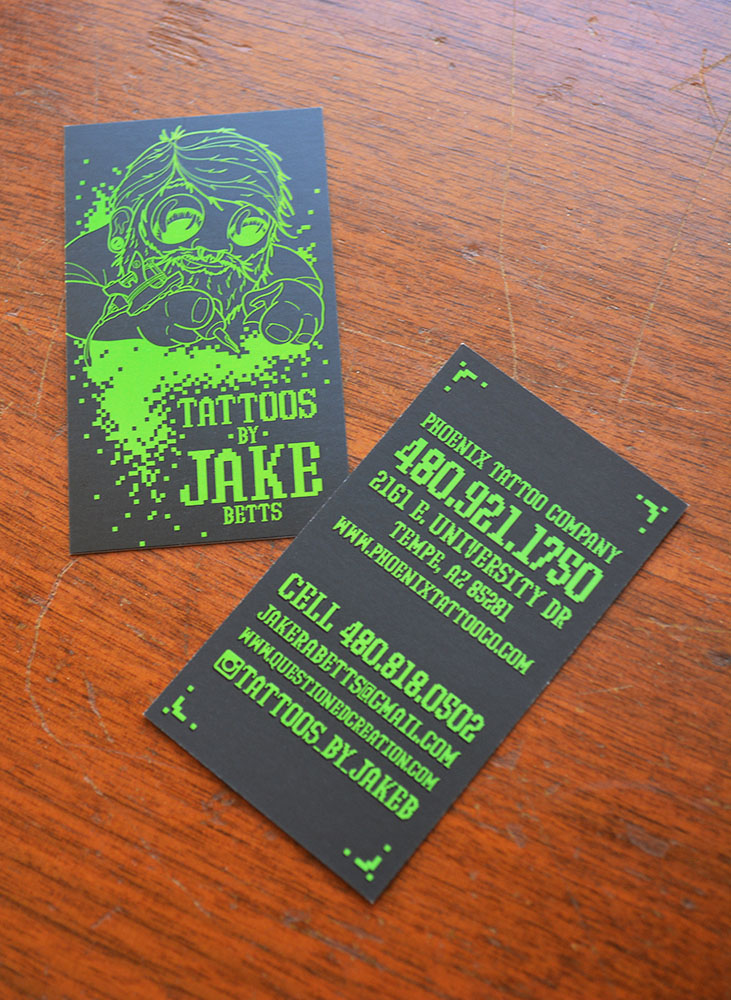 NEW PROJECT: Jake B Business Cards