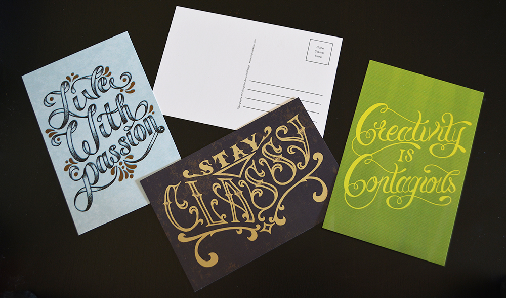 Hand-Lettered Postcards