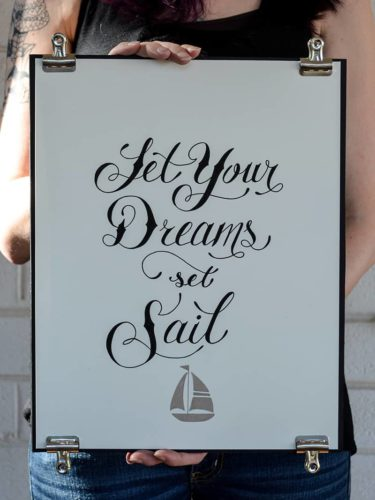 Delta gamma custom hand lettering nautical typography