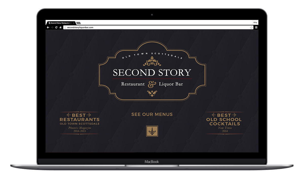 Second Story Restaurant Website