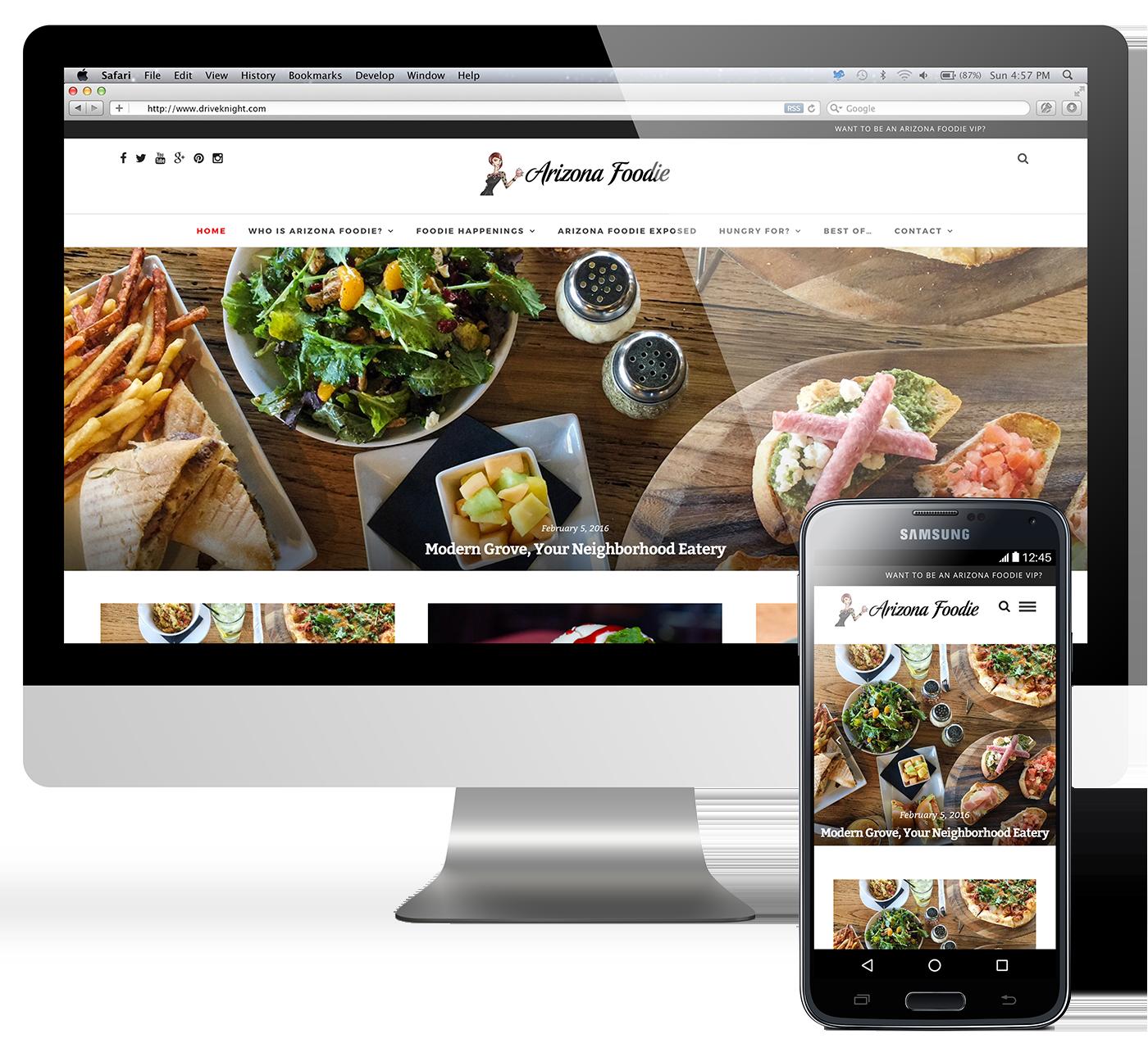 az foodie blog website