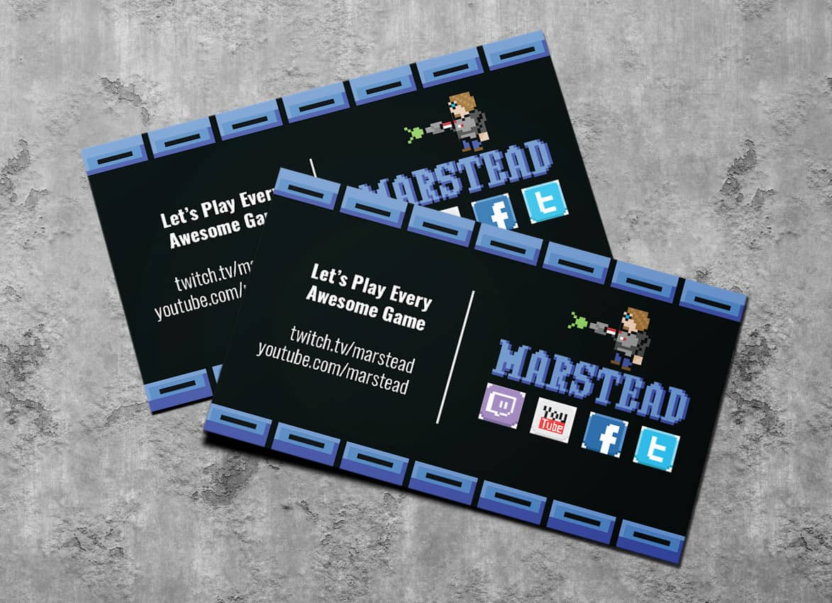 Amy Has Design Gamer Branding for Marstead, a Gamer on Twitch.TV