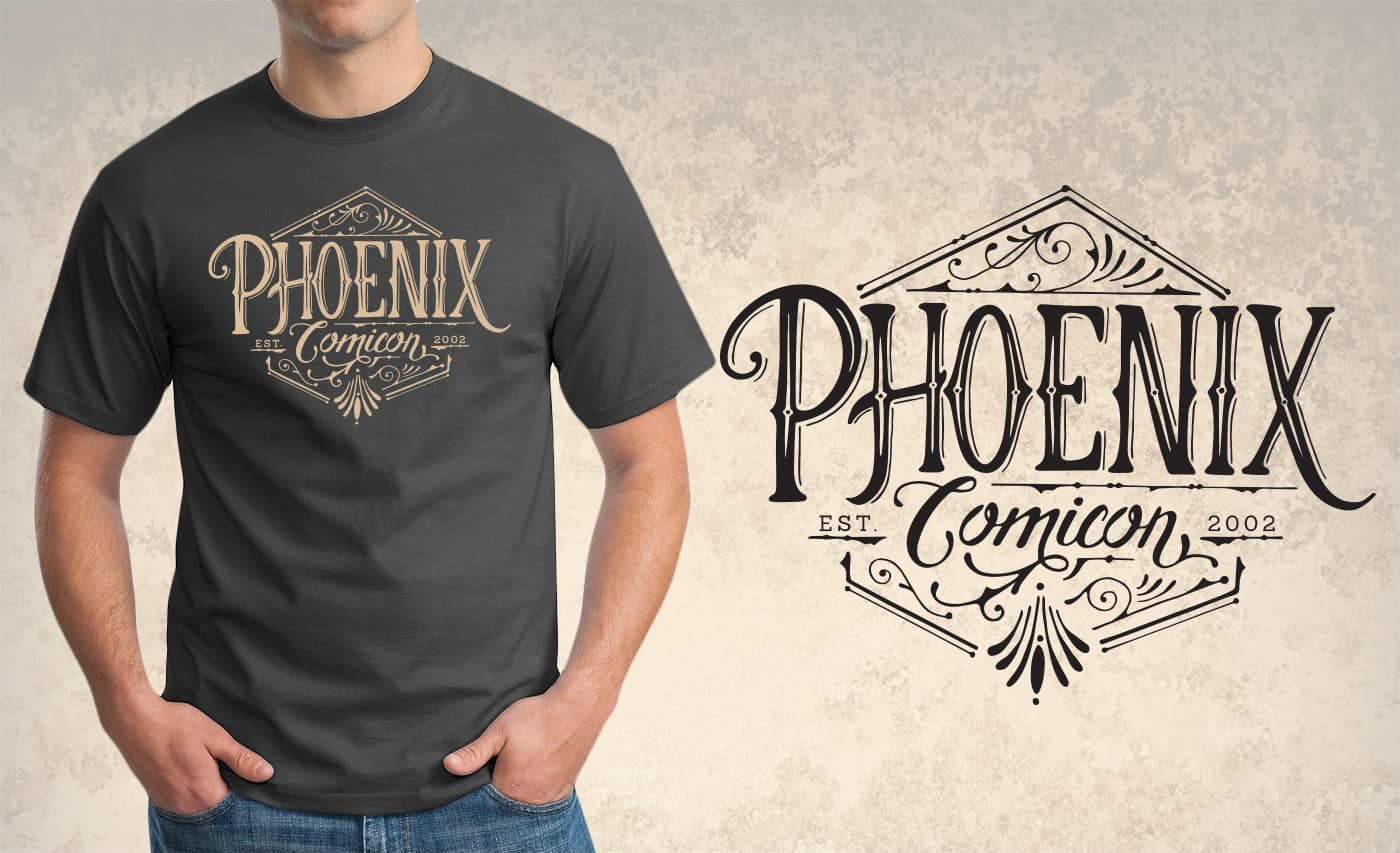 phoenix comicon t-shirt design