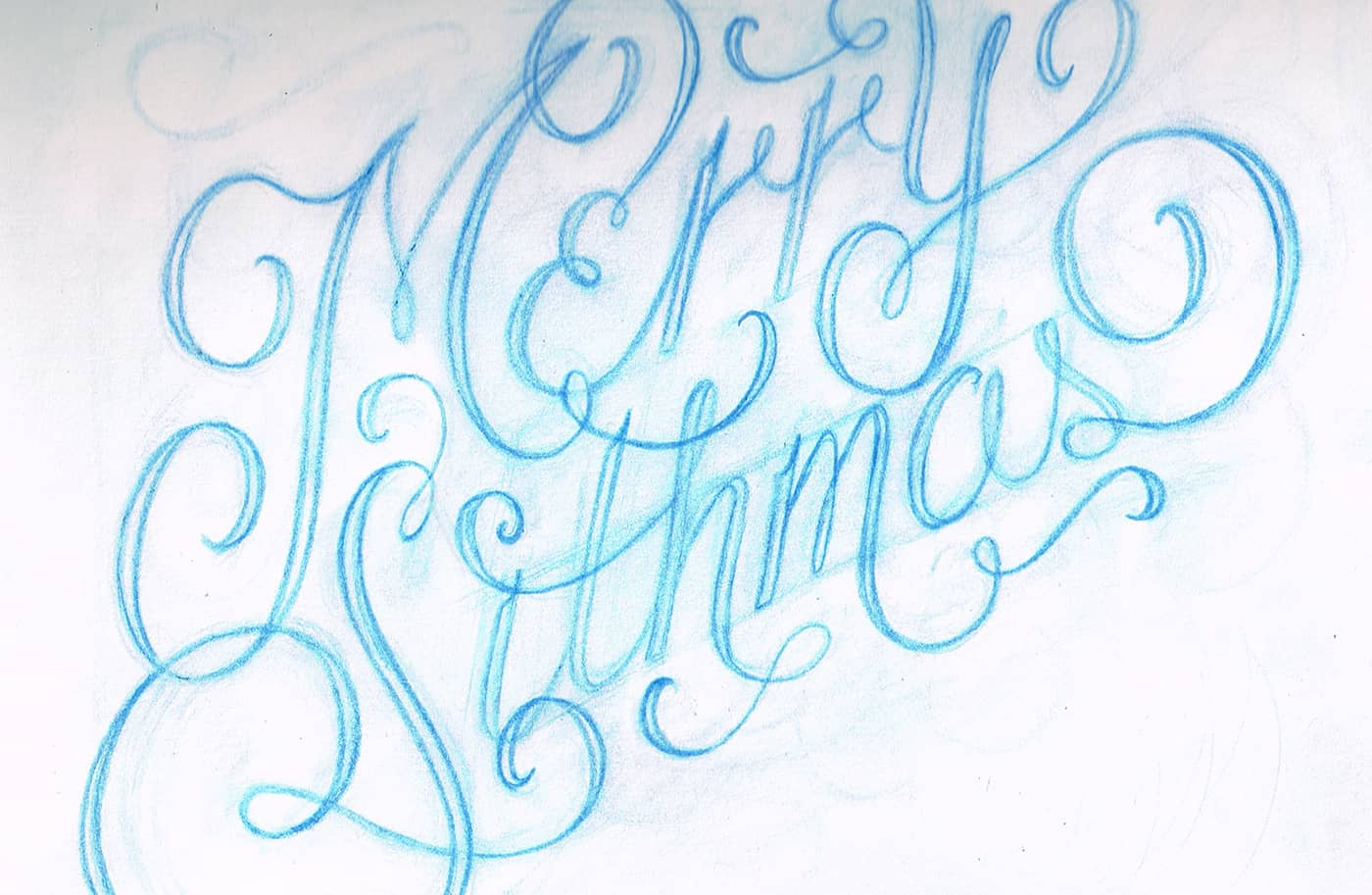 merry sithmas hand lettered holiday cards