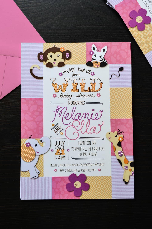 Amy has design melanies safari custom baby shower invitation design baby shower invitation filmwisefo
