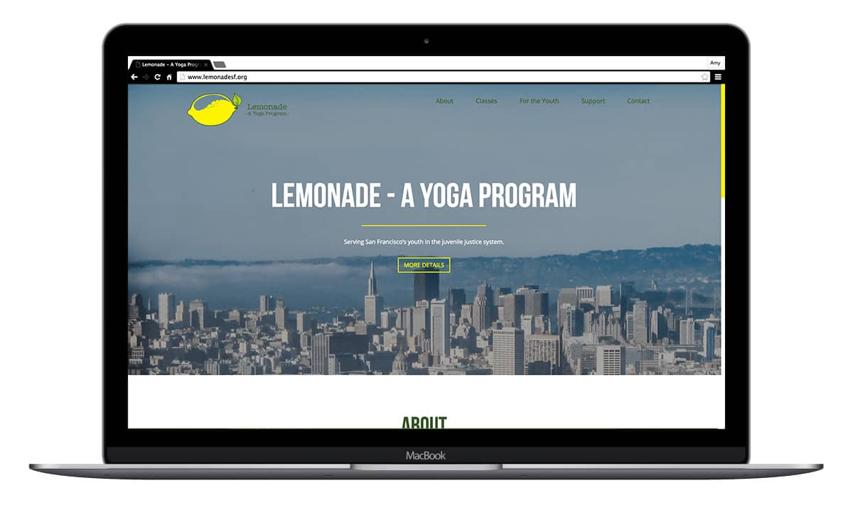 lemonade yoga website mock up