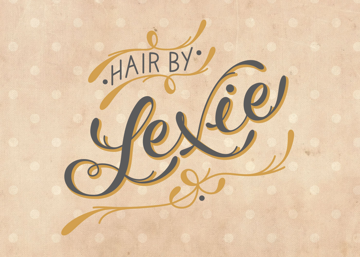 hair by lexie hair salon branding