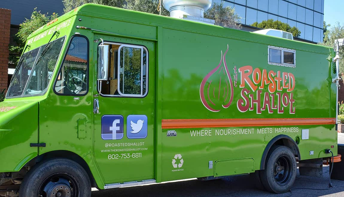 the roasted shallot food truck branding