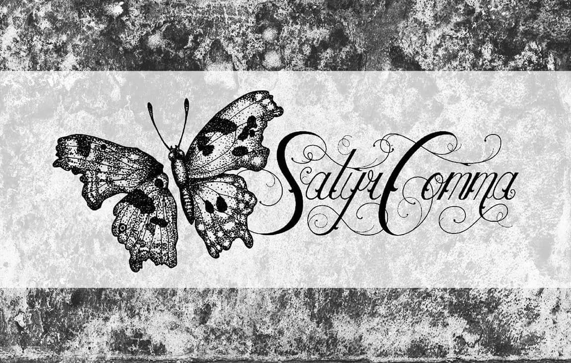 satyr comma jewelry logo
