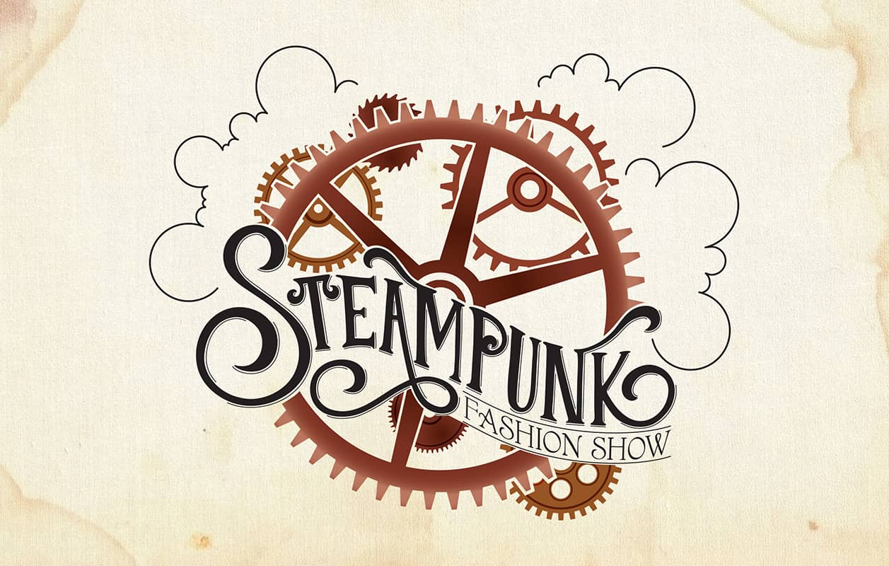 phoenix comicon steampunk fashion show logo