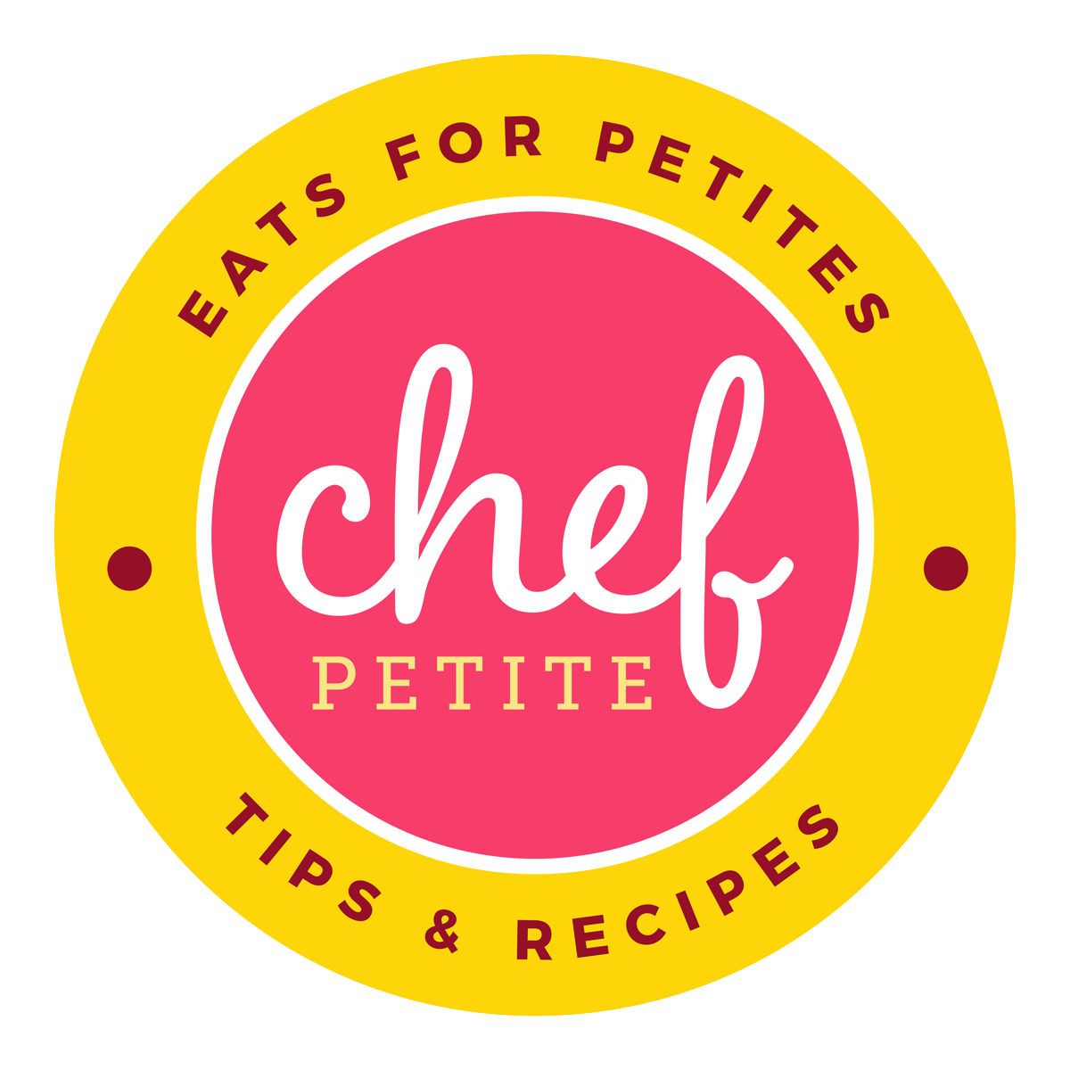 ChefPetite food blog logo and branding
