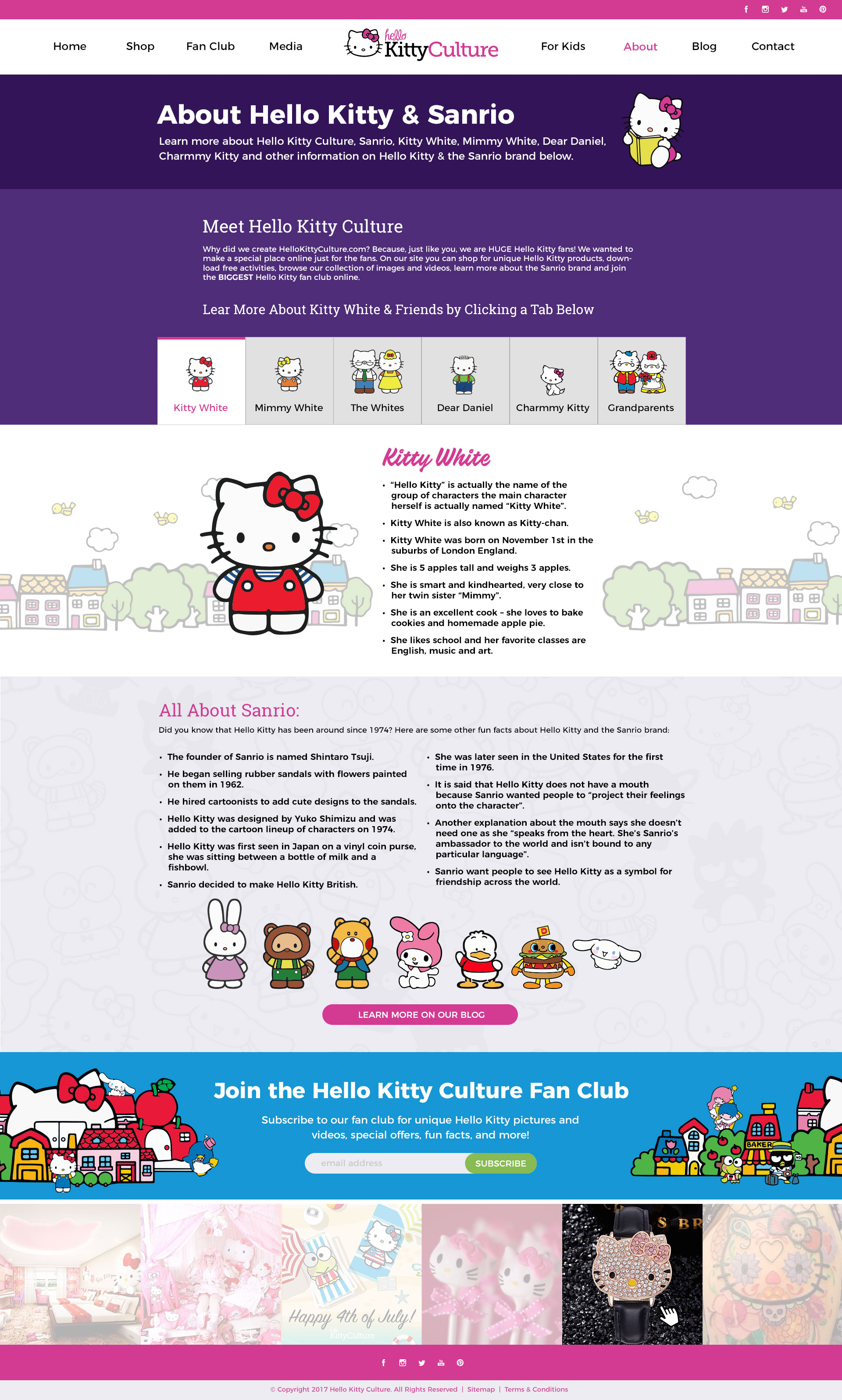 HK Culture Fan website design about page design