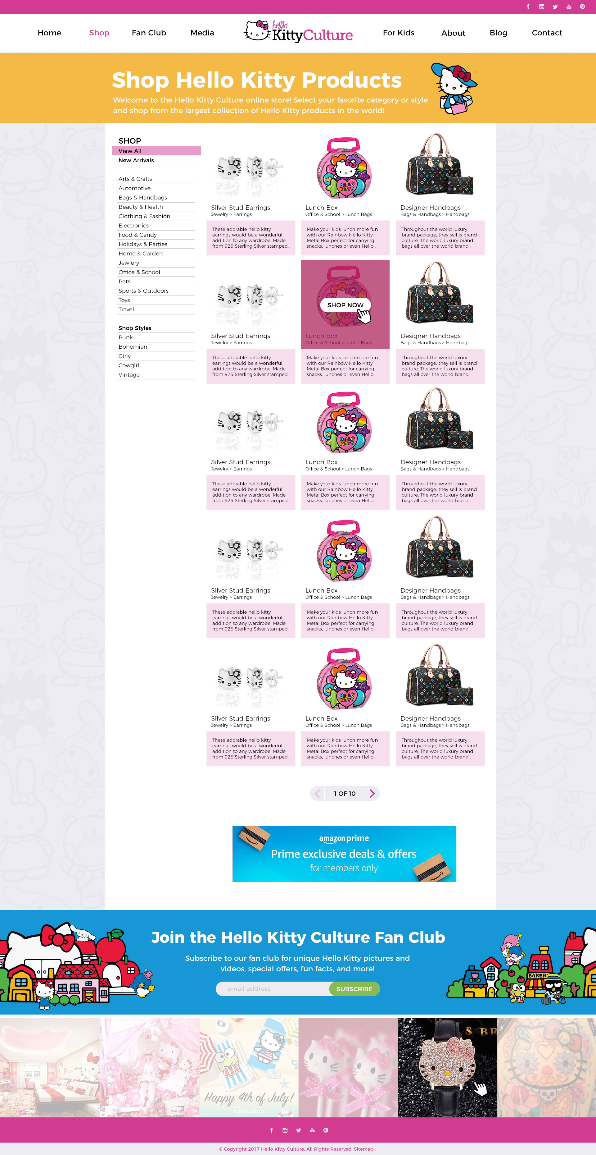 HK Culture Fan website design shop feed page design