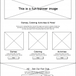 HK Culture Fan website design for kids page wireframe
