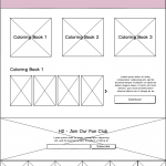 HK Culture Fan website design activity page wireframe